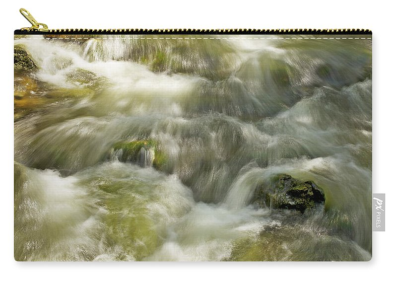 Belfountain Carry-all Pouch featuring the photograph Surging Water by Phill Doherty