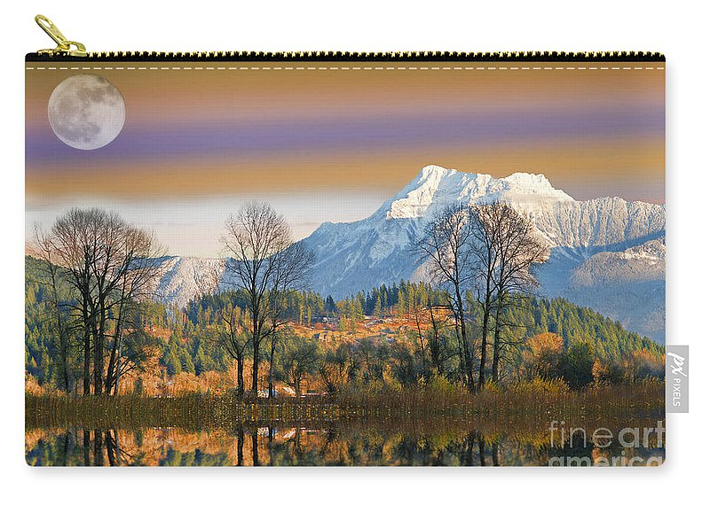 Scenic Carry-all Pouch featuring the photograph Surreal Landscape-hdr by Randy Harris
