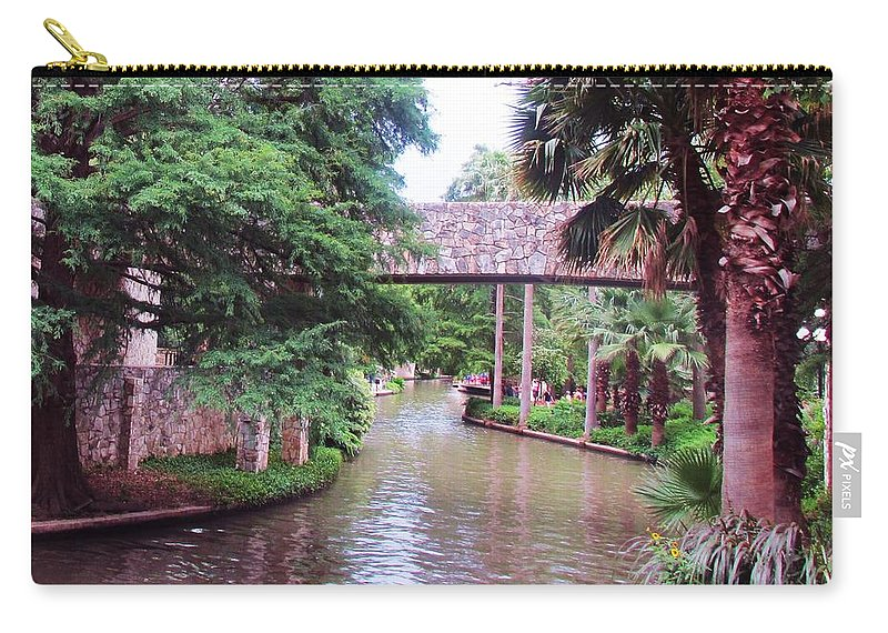 River Carry-all Pouch featuring the photograph Surreal Setting by Jewell McChesney