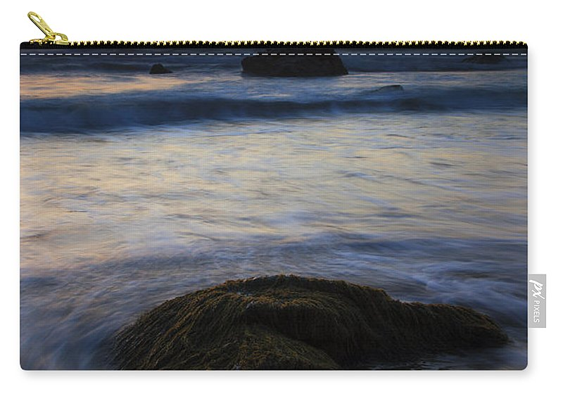 Seascape Carry-all Pouch featuring the photograph Surrounded By The Tide by Mike Dawson