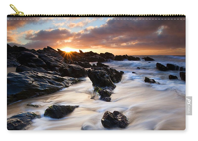 Seascape Carry-all Pouch featuring the photograph Surrounded By The Tides by Mike Dawson