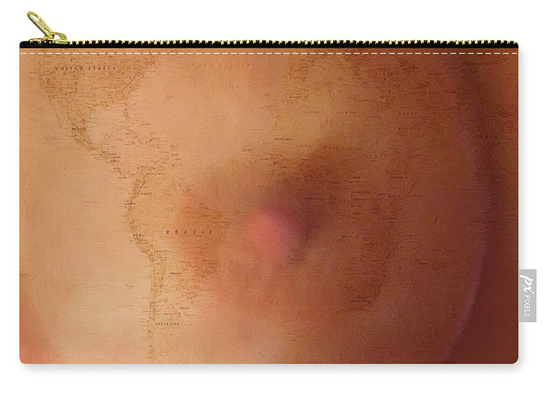 Breast Carry-all Pouch featuring the painting Sustenance by RC DeWinter