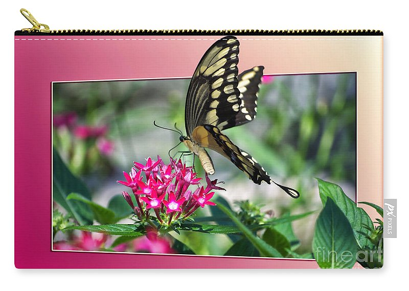 Butterfly Carry-all Pouch featuring the digital art Swallowtail Butterfly 02 by Thomas Woolworth
