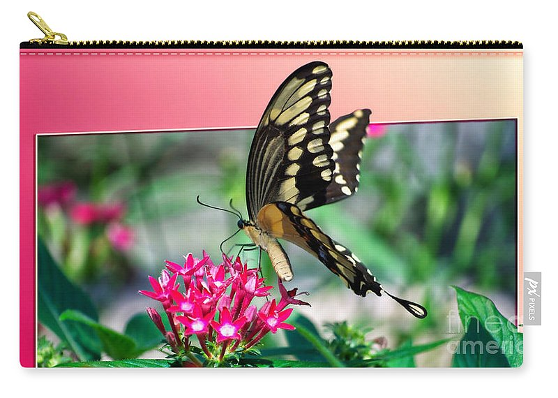 Butterfly Carry-all Pouch featuring the digital art Swallowtail Butterfly 04 by Thomas Woolworth