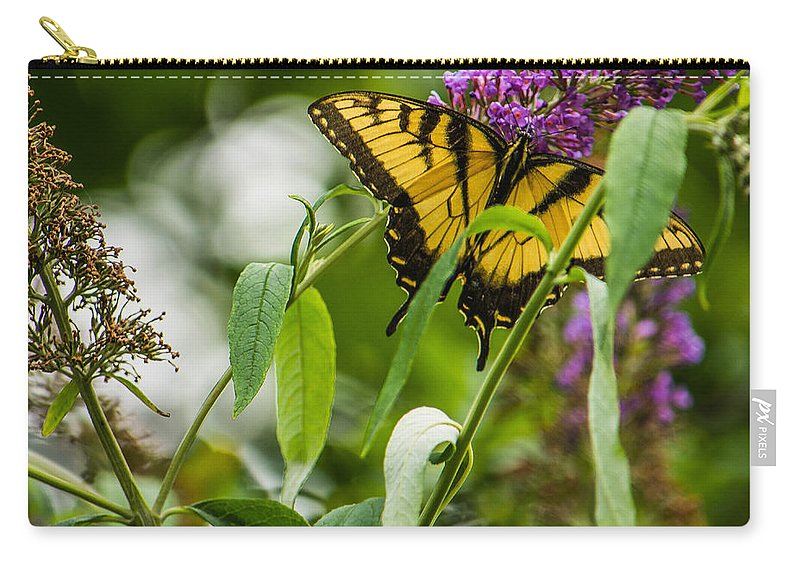 Memphis Carry-all Pouch featuring the photograph Swallowtail Butterfly by Jon Woodhams