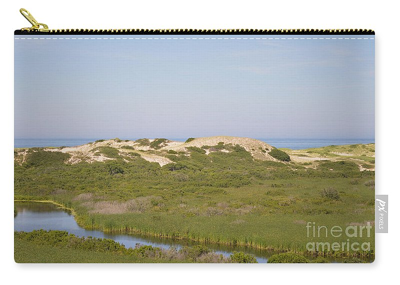 Cape Cod Carry-all Pouch featuring the photograph Swamp And Dunes by Meandering Photography