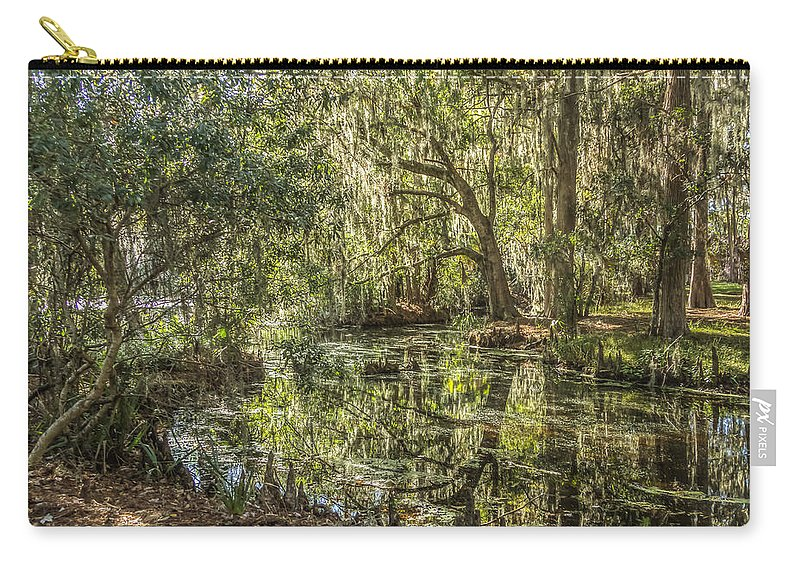 Swamp Carry-all Pouch featuring the photograph Swamp Reflections by Jane Luxton