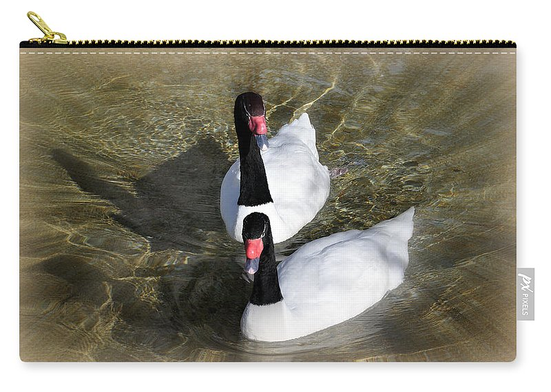 Birds Carry-all Pouch featuring the photograph Swan Duo by Marty Koch