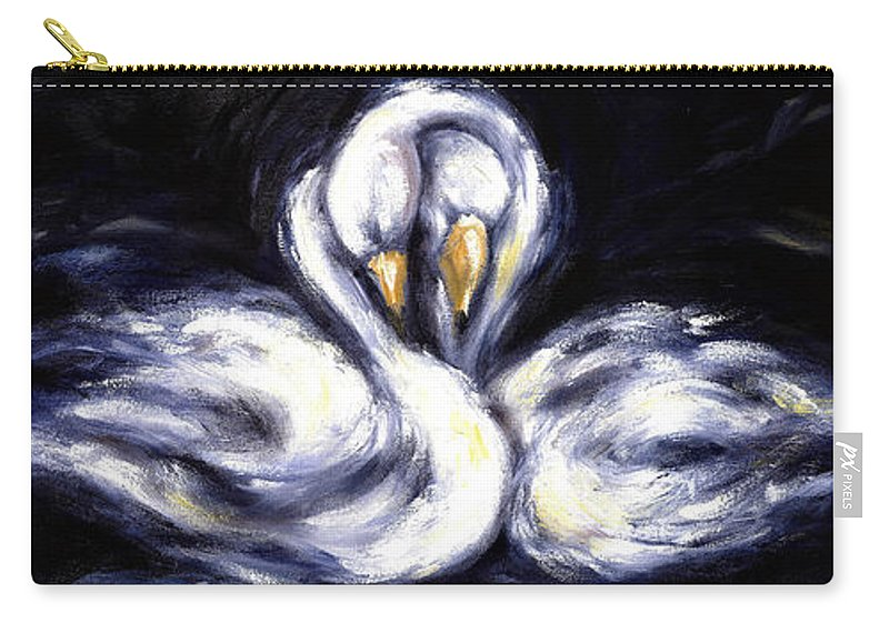 Bird Carry-all Pouch featuring the painting Swan by Hiroko Sakai