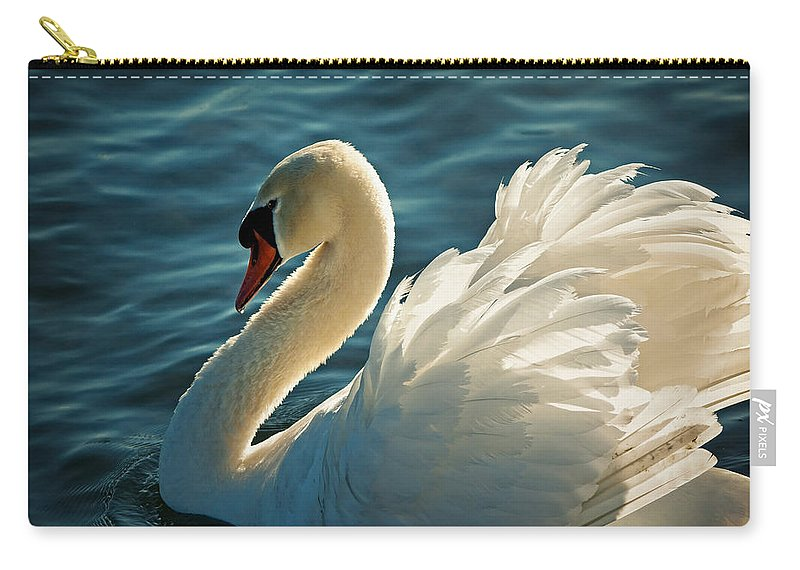 Elegant Carry-all Pouch featuring the photograph Swan Lake by Edmund Nagele