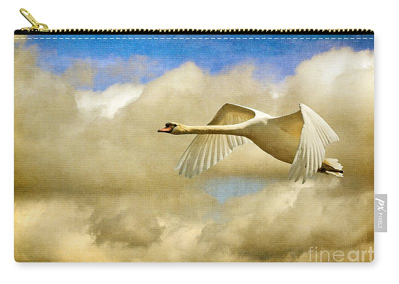 Nature Carry-all Pouch featuring the photograph Swan Song by Lois Bryan