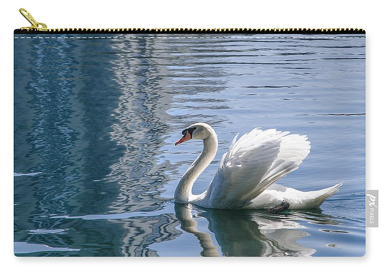 Swan Carry-all Pouch featuring the photograph Swan by Steven Sparks
