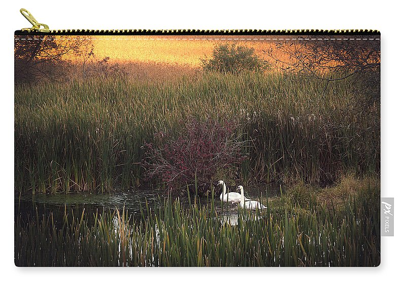 Swans Carry-all Pouch featuring the photograph Swan by Theresa Heald