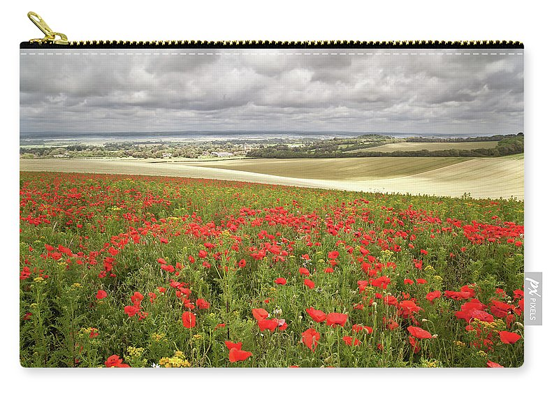 Scenics Carry-all Pouch featuring the photograph Sweeping Golden Fields by Getty Images