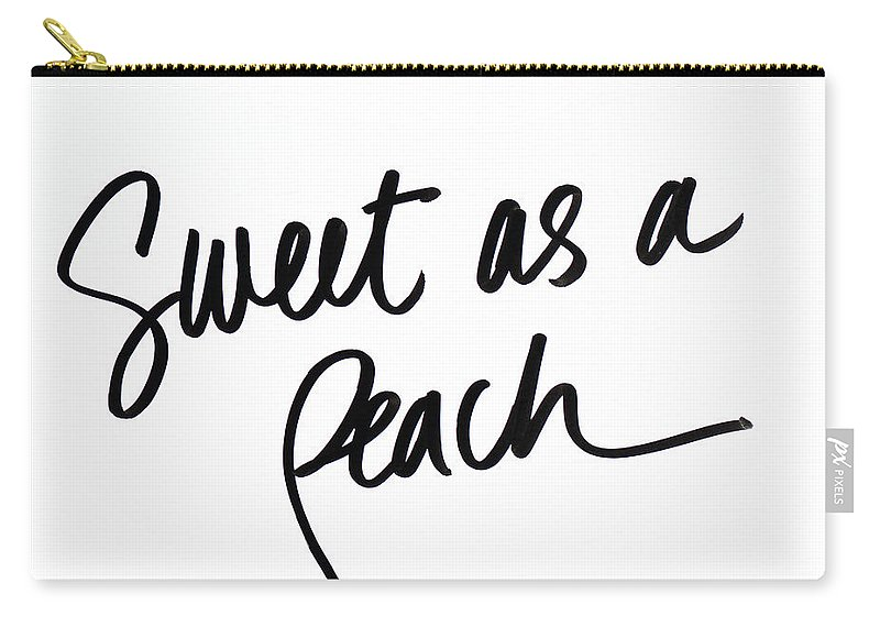 Sweet Carry-all Pouch featuring the digital art Sweet As A Peach by Sd Graphics Studio