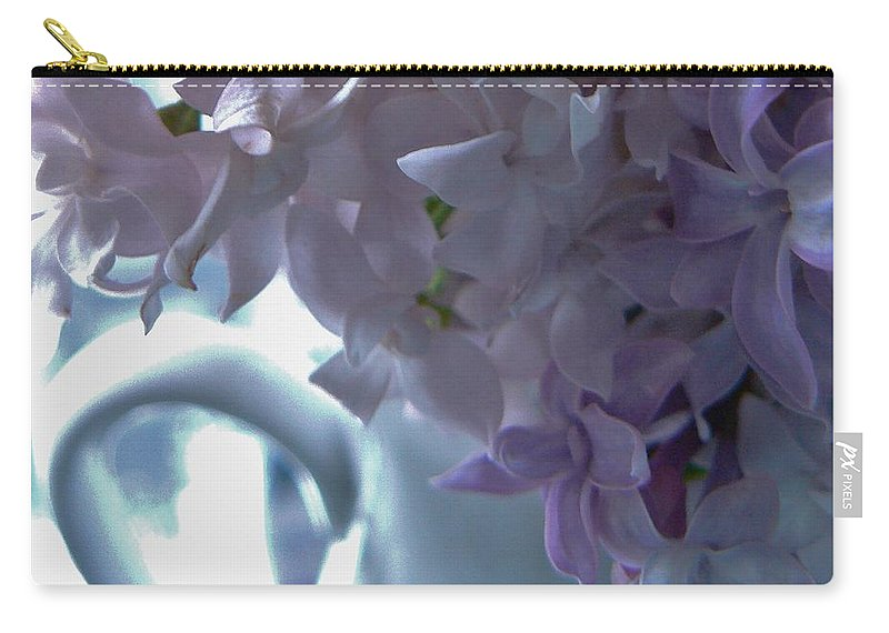 Photograph Carry-all Pouch featuring the photograph Sweet Cream Lilac by Barbara St Jean