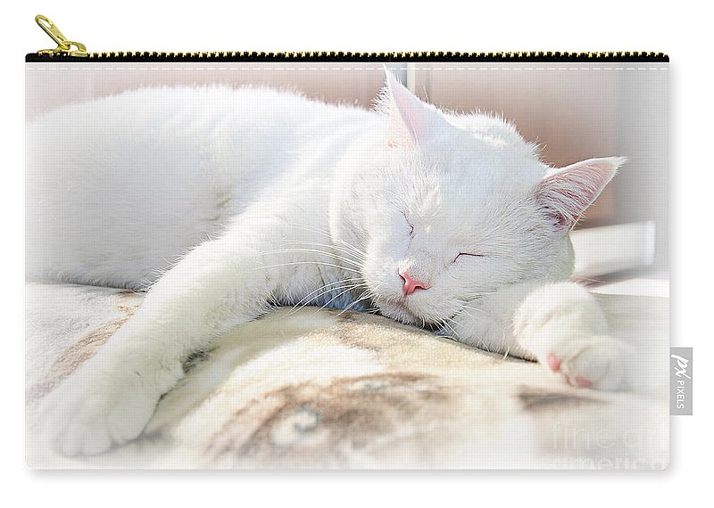 Andee Design Cats Carry-all Pouch featuring the photograph Sweet Dreams by Andee Design
