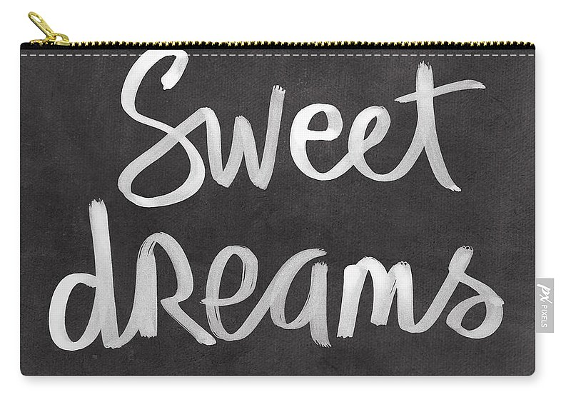 Dreams Carry-all Pouch featuring the mixed media Sweet Dreams by Linda Woods