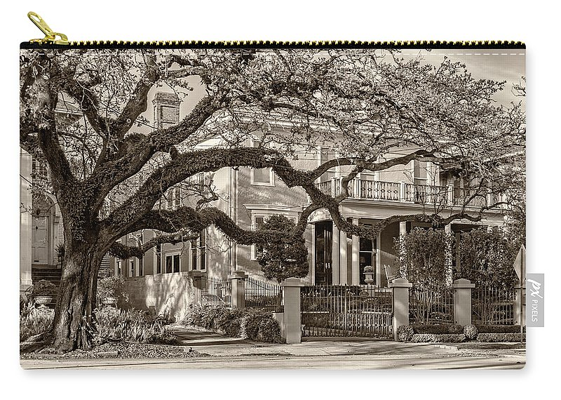 Home Carry-all Pouch featuring the photograph Sweet Home New Orleans 2 Sepia by Steve Harrington