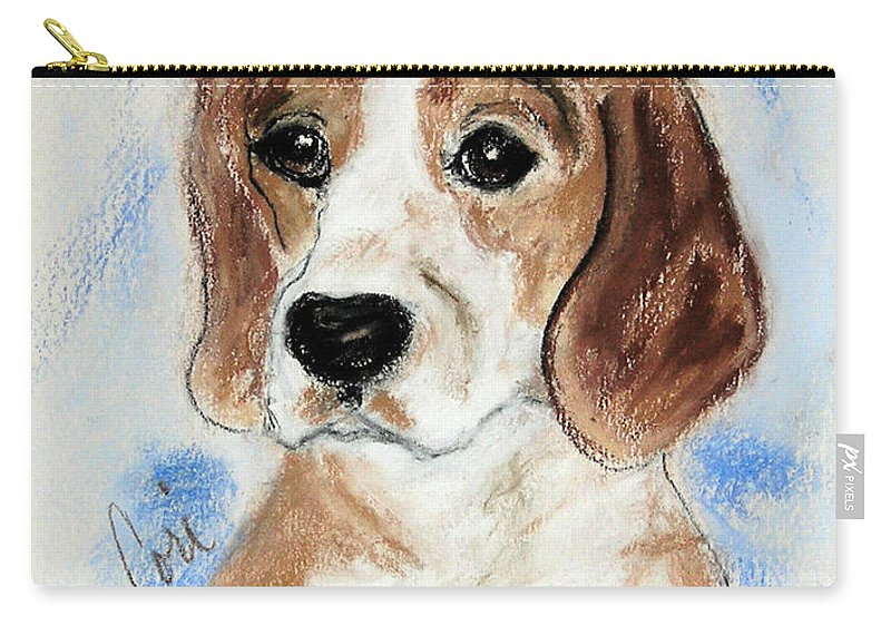 Dog Carry-all Pouch featuring the drawing Sweet Innocence by Cori Solomon