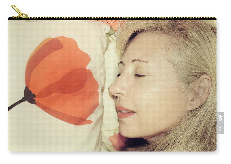People Carry-all Pouch featuring the photograph Sweet Poppy Dreams by Laurie Search