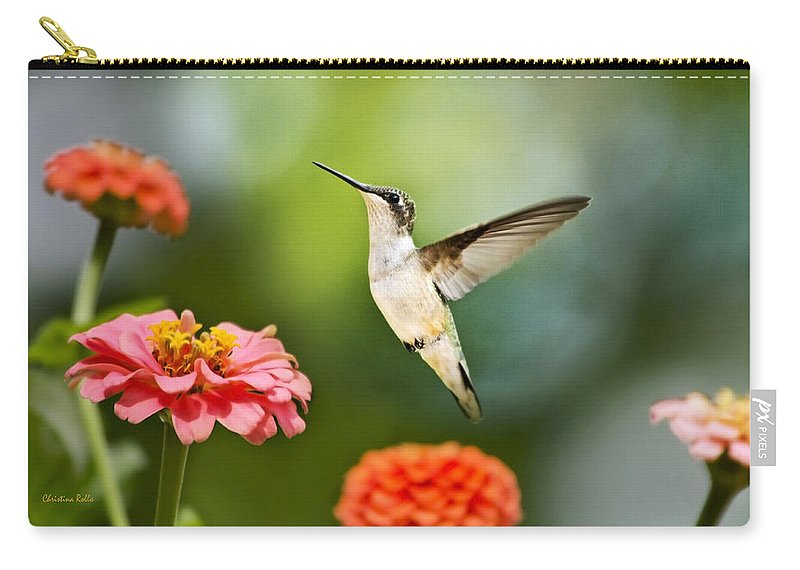 Hummingbird Carry-all Pouch featuring the photograph Sweet Promise Hummingbird by Christina Rollo