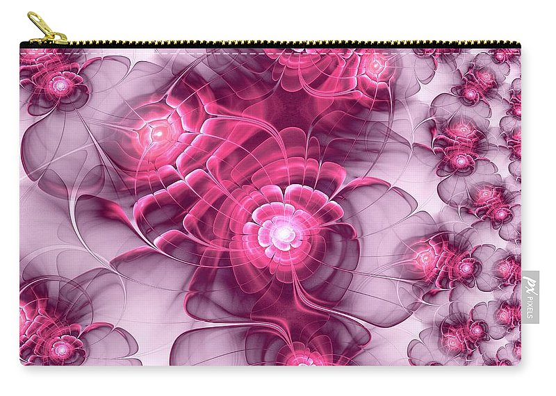 Plant Carry-all Pouch featuring the digital art Sweet Sakura by Anastasiya Malakhova