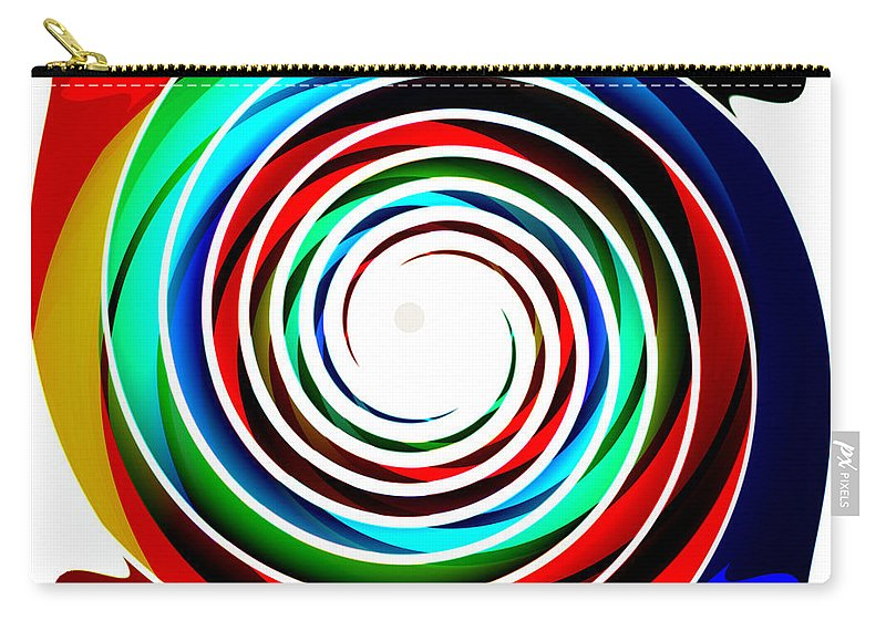 Abstract Carry-all Pouch featuring the digital art Sweet Spot, No. 4 by James Kramer