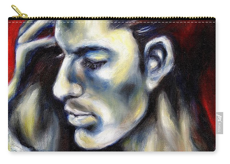 Man Carry-all Pouch featuring the painting Sweetest Taboo by Hiroko Sakai