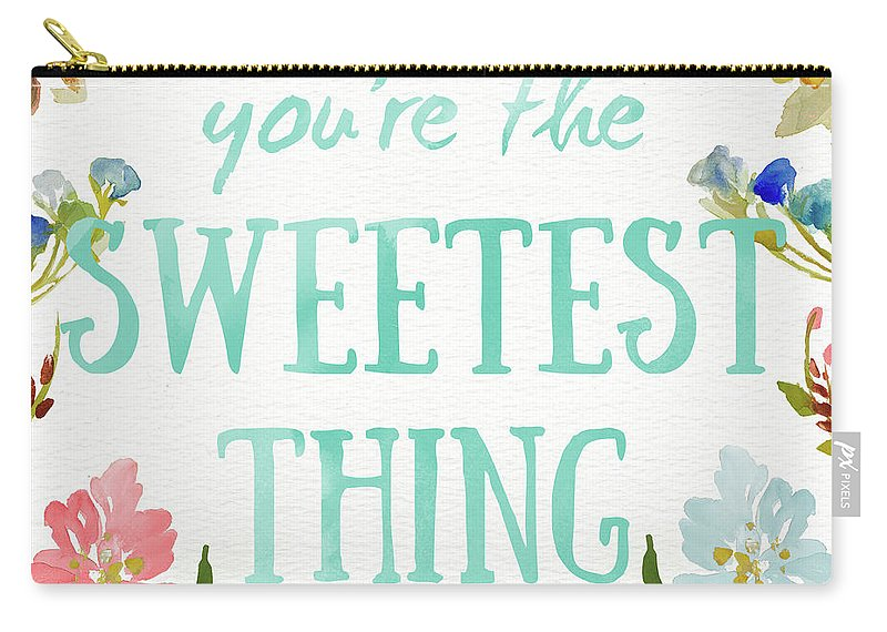 Sweetest Carry-all Pouch featuring the painting Sweetest To Be I by Lanie Loreth
