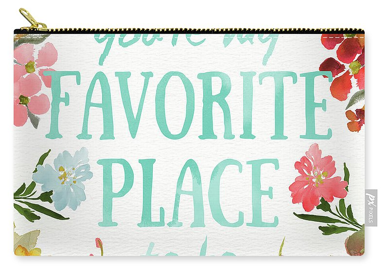 Sweetest Carry-all Pouch featuring the painting Sweetest To Be II by Lanie Loreth
