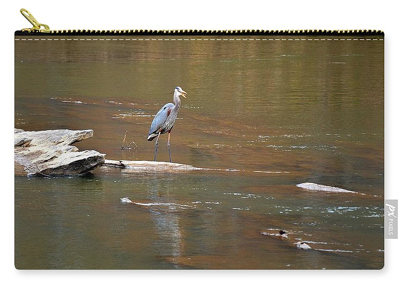Sweetwater Creek State Park Carry-all Pouch featuring the photograph Sweetwater Creek Heron by Tara Potts
