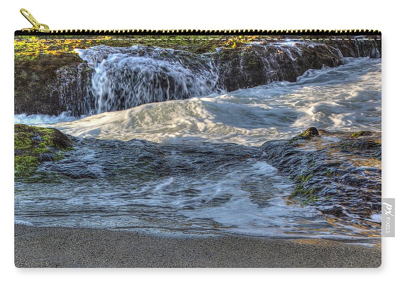 Bay Carry-all Pouch featuring the photograph Swell And Receed by Heidi Smith