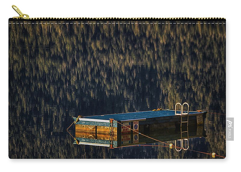 Swim Carry-all Pouch featuring the photograph Swim Platform On Lake Quinault by Robert Woodward