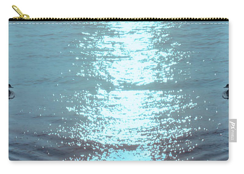 Swimming Carry-all Pouch featuring the photograph Swimming Together by Bill Cannon