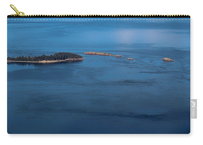 Landscape Orientation Carry-all Pouch featuring the photograph Swirling Currents by Jacqui Boonstra