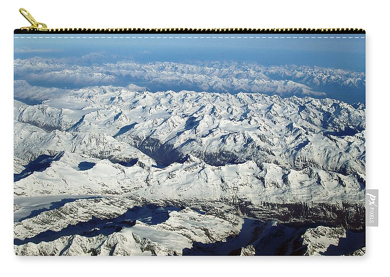 Swiss Alps Carry-all Pouch featuring the photograph Swiss Alps by Ellen Henneke