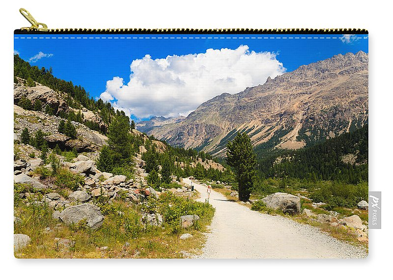 Bernina Carry-all Pouch featuring the photograph Swiss Mountains by Raul Rodriguez