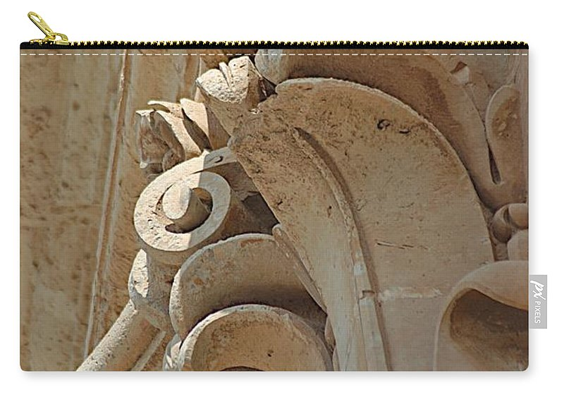 Carved Stone Carry-all Pouch featuring the photograph Sword's Power by Joseph Yarbrough