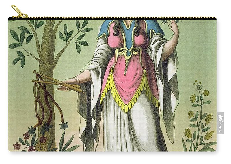 Sibilla Delfo Carry-all Pouch featuring the drawing Sybil Of Delphi, No. 15 From Antique by Jacques Grasset de Saint-Sauveur