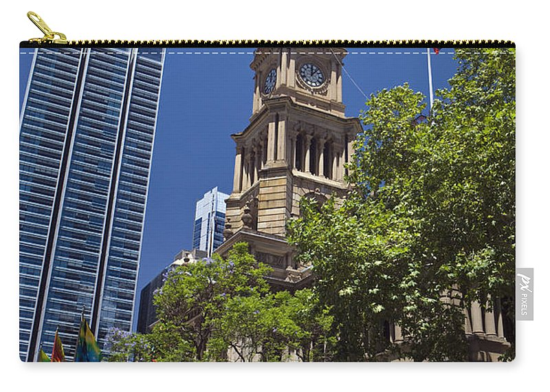 Travel Carry-all Pouch featuring the photograph Sydney Town Hall by Jason O Watson