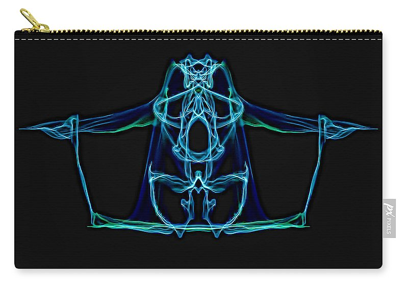 Carry-all Pouch featuring the digital art Symmetry Art 3 by Cathy Anderson