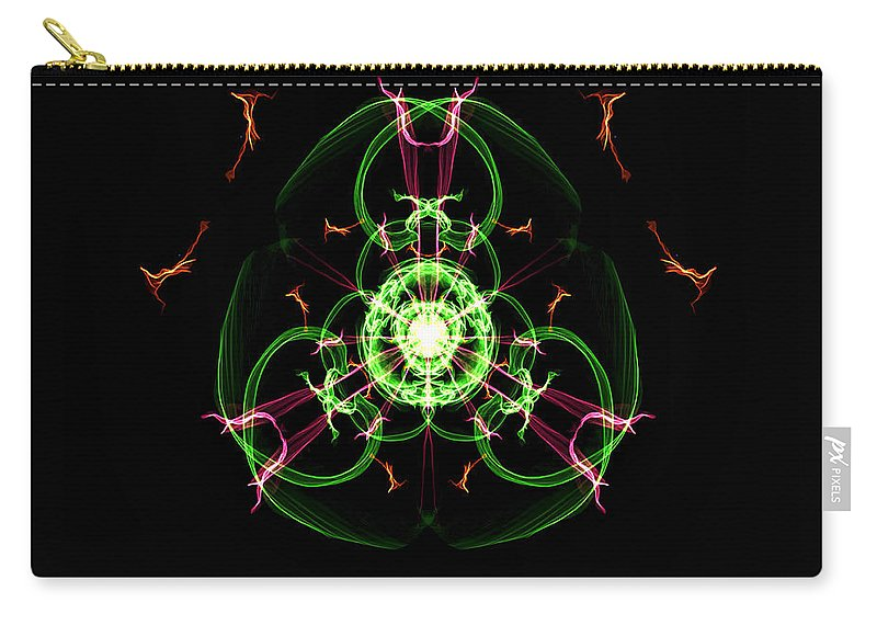 Carry-all Pouch featuring the digital art Symmetry Art 5 by Cathy Anderson