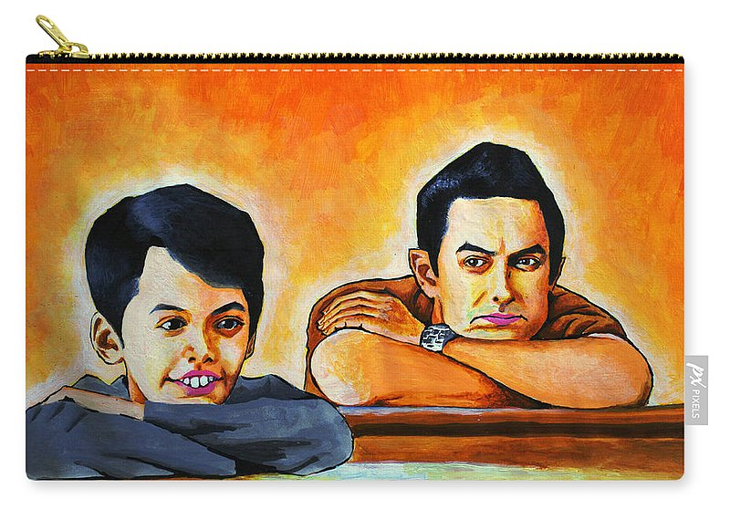 Wallpaper Buy Art Print Phone Case T-shirt Beautiful Duvet Case Pillow Tote Bags Shower Curtain Greeting Cards Mobile Phone Apple Android Nature Taare Zameen Par Painting Aamir Khan Salman Ravish Khan Bollywood Movies Poster Carry-all Pouch featuring the painting Taare Zameen Par by Salman Ravish