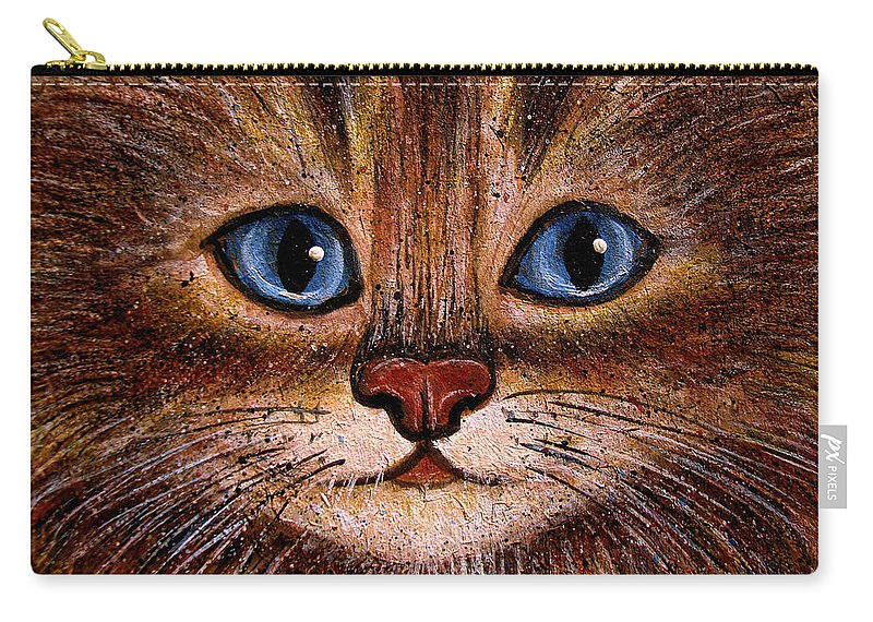 Cats Carry-all Pouch featuring the painting Tabby by Natalie Holland