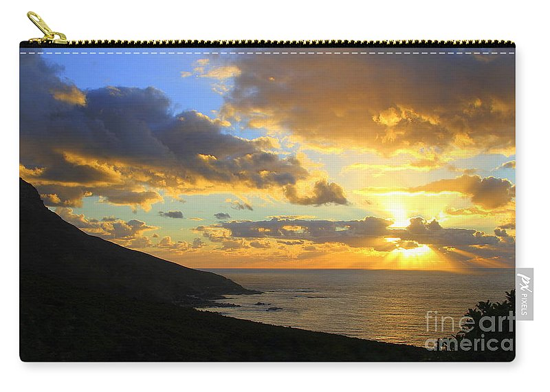 Camps Bay Carry-all Pouch featuring the photograph Table Mountain South Africa Sunset by Catherine Sherman