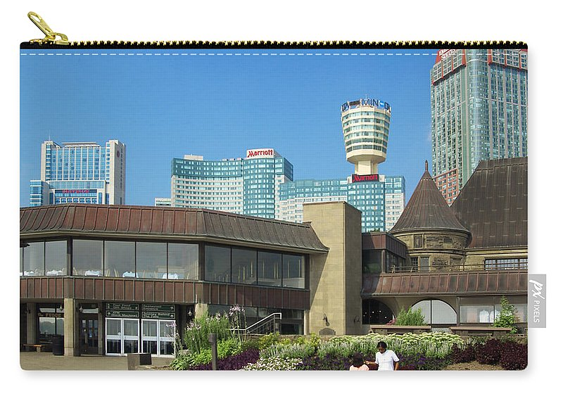 Table Rock Cafe Niagara Falls Carry-all Pouch featuring the photograph Table Rock Cafe Niagra Falls by Bob Pardue