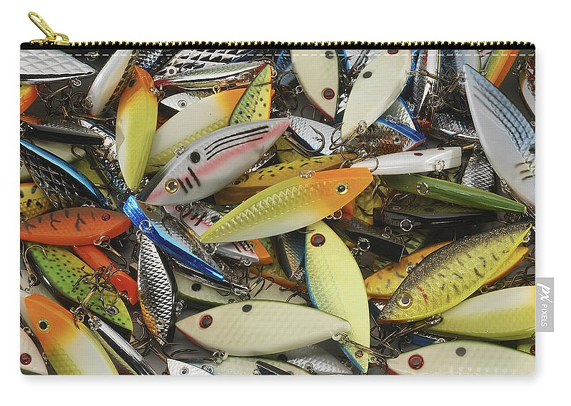 Fishing Carry-all Pouch featuring the photograph Tackle Box Tangle by Jerry McElroy