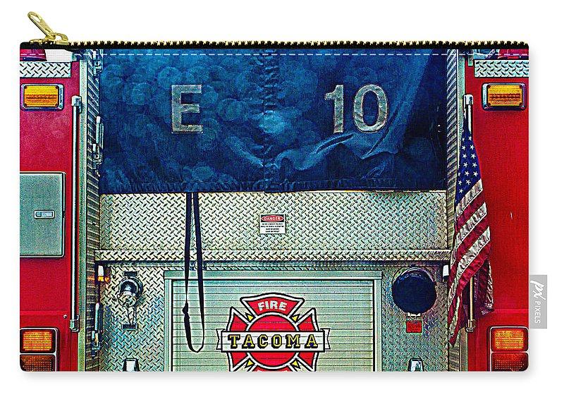 Tacoma Fire Dept. Carry-all Pouch featuring the photograph Tacoma Fire Dept. by Tikvah's Hope
