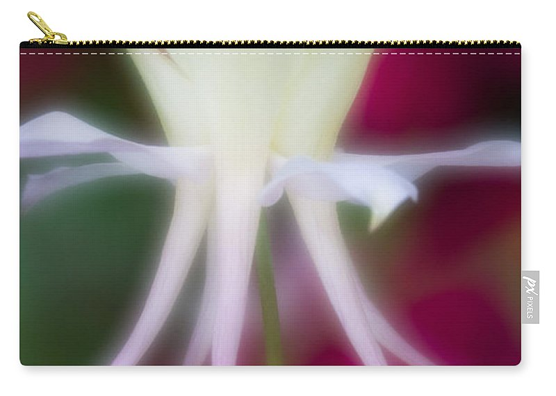 Blue Flower Carry-all Pouch featuring the photograph Tadpole Flower by Greg Nyquist